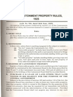 Cantonment Property Rules1925