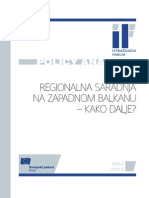 Regionalna saradnja na Zapadnom Balkanu - kako dalje?