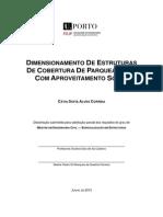 DIMENSIONAMENTO DE ESTRUTURAS DE COBERTURA DE PARQUEAMENTO COM APROVEITAMENTO SOLAR