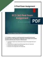 ECO 365 Final Exam UOP HomeWork Tutorials