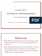 Attacks on cryptosystem
