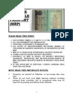 Information About Machine Readable Passport