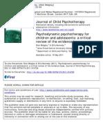 Child Psychotherapy Evidence Base