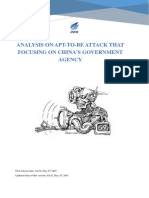 Analysis on Apt to Be Attack That Focusing on Chinas Government Agency