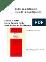 Métodos Cualitativos II, Gallart