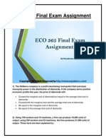 ECO 365 Final Examination University of Phoenix Homework Help