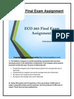 ECO 365 Final Examination University of Phoenix Homework Help