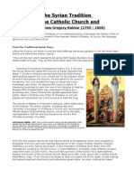 The Syrian Tradition  of the Catholic Church and Mar Matthew Gregory Nakkar (1795 - 1868)