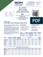 Data Sheet No. 03.01 - BK Gas Meter