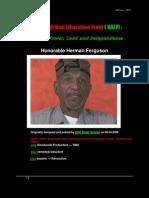 27332200 the New Afrikan Liberation Front Honorable Herman Ferguson