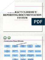 Contract Closeout, Reporting and Documentation system