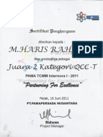 Certificate Quality Circle NT 2011