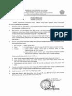 Pengumuman Tes Tahap 1 USM STIS 2015