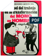 El Papel Del Trabajo en La Transformación Del Mono Al Hombre