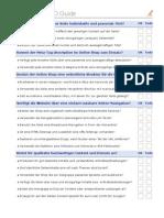 Checkliste Google SEO Guide :
