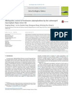 Allelopathic Control of Freshwater Phytoplankton by the Submerged Macrophyte Najas Minor All