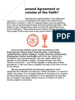 Balamand Agreement or Compromise of the Catholic Faith?