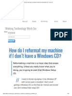 How Do I Reformat My Machine if I Don't Have a Windows CD_ - Ask Leo!