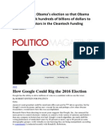 googke rigs elections and stock market results