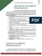 Determinacion de Un Objeto Tecnologico
