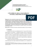 A diversidade de valores e de procedimentos associados à objetividade jornalística.pdf