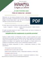 Pronombre Clítico Reduplicativo Dativo Acusativo Catafora Anafora