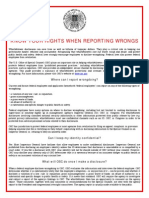 Know Your Rights When Reporting Wrongs