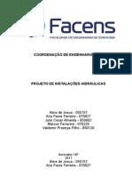 PROJETO DE INSTALAÇÕES HIDRÁULICAS