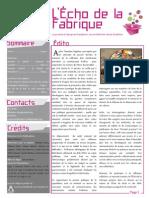 Echo de La Fabrique - n°6 / Aout 2015