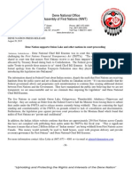 20Aug2015 - Press Release - Dene Nation Supports FN Courts Proceedings