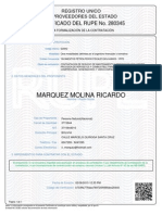 Certificado Rupe 582260