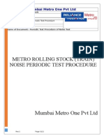 Environmental Noise Test for transit project