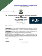 Ley Contitutiva Del Mercado de Las Zonas Agricolas (Actualizada-07)