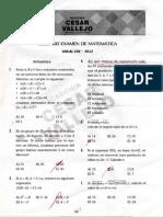Segundo Examen de Matematicas Anual UNI - 2012