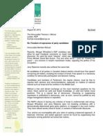 OCLA letter to  NDP Leader Thomas Mulcair
