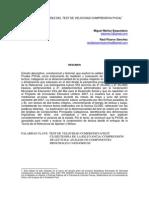 ESTUDIO DE VALIDEZ DEL TEST DE VELOCIDAD COMPRENSIVA