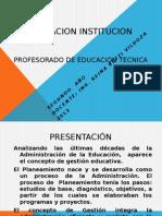 planificación institución escolar