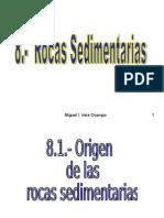 8.- Rocas Sedimentarias