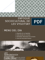 Enfoque Sociocultural de Lev Vygotsky