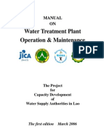 Water Treatment Plant OP&M