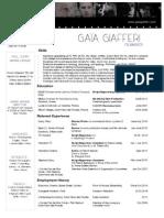 CV Gaia Giafferi