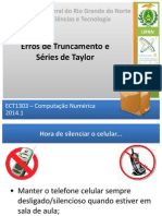 Erros de Truncamento e Séries de Taylor