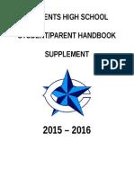 2015-2016 CHS Student Handbook of Rules 7-30-15