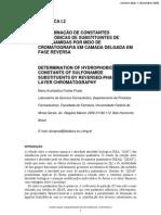 Determinação de Constantes Hidrofóbicas de Substituintes de Sulfonamidas Por Meio de Cromatografia Em Camada Delgada Em Fase Reversa