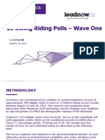 Environics - Leadnow Swing Riding Poll Wave One Report Aug 19-15