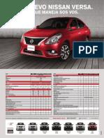 Ficha Técnica Nissan Versa