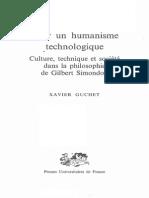 Guchet, Pour un humanisme technologique.