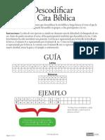 Juego Biblico Descodificar Cita