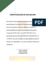 Certificado Afp