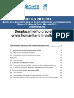 CODHES Informa 79 Desplazamiento Creciente y Crisis Humanitaria Invisibilizada Marzo 2012